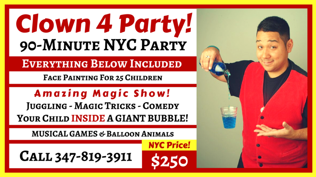 Prices | Clown4Party com | Kid's Birthday Clown NYCPrices